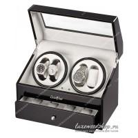 Шкатулка для автоподзавода четырех часов LuxeWood LW622-1