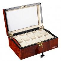 Шкатулка для хранения 10-и часов LuxeWood LW801-10-3