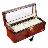 Шкатулка для хранения 5-и часов LuxeWood LW801-5-3